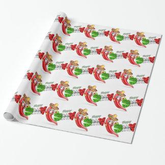 Cinco De Mayo Chilli Pepper Poster Design Wrapping Paper