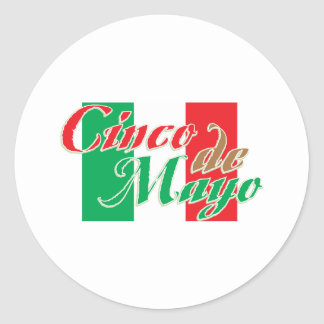 Cinco de Mayo Classic Round Sticker
