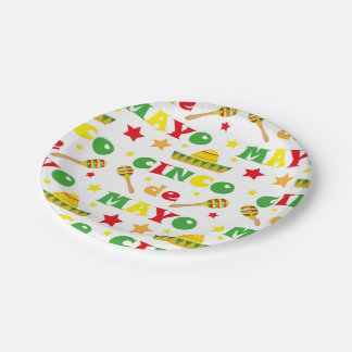Cinco de Mayo Fiesta in Mexico holiday 7 Inch Paper Plate