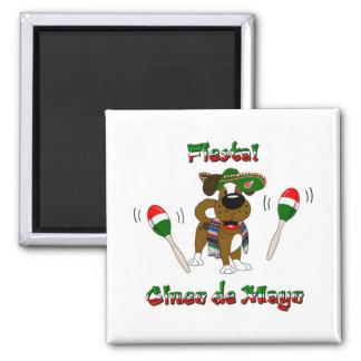 Cinco de Mayo - Fiesta! Square Magnet