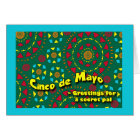 Cinco de Mayo for Secret Pal, Colourful Mosaic Card