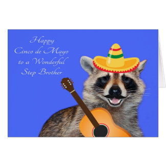Cinco de Mayo For Step Brother Greeting Card