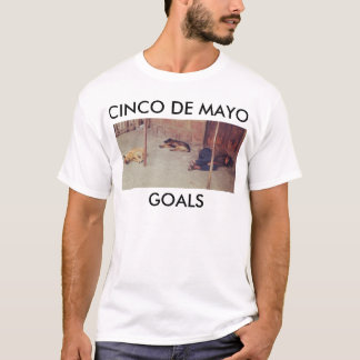 Cinco De Mayo Man and Dogs Sleeping T - Shirt