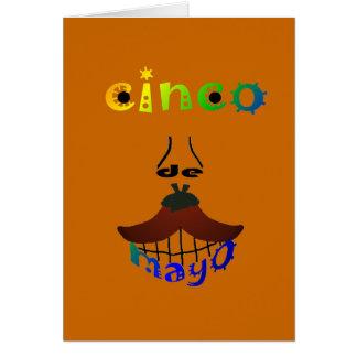 Cinco De Mayo Man Note Card