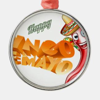 Cinco De Mayo Mexican Chilli Pepper Design Christmas Ornament