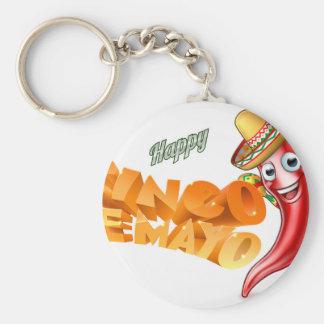 Cinco De Mayo Mexican Chilli Pepper Design Key Ring
