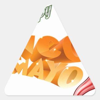 Cinco De Mayo Mexican Chilli Pepper Design Triangle Sticker