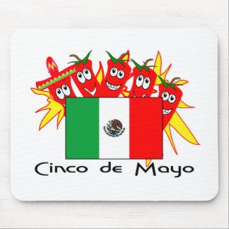 Cinco de Mayo MEXICAN FLAG Mouse Mat