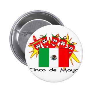 Cinco de Mayo MEXICAN FLAG Pinback Button