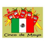 Cinco de Mayo MEXICAN FLAG Post Cards