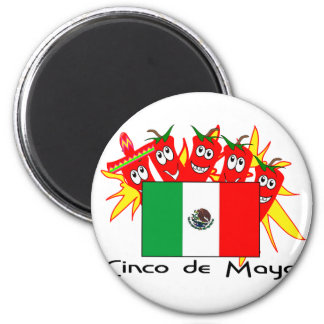 Cinco de Mayo MEXICAN FLAG Refrigerator Magnet