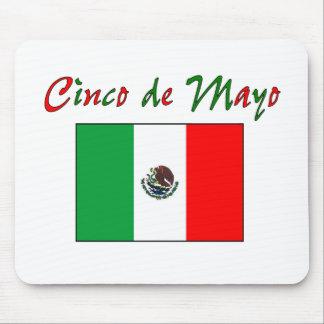 Cinco de Mayo Mexican Flag Shirt Gifts Mouse Mats