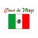 Cinco de Mayo Mexican Flag Shirt & Gifts Postcards