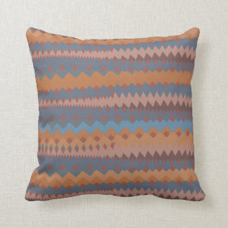 Cinco de Mayo Mexican ZigZag Southwestern Colors Throw Pillow