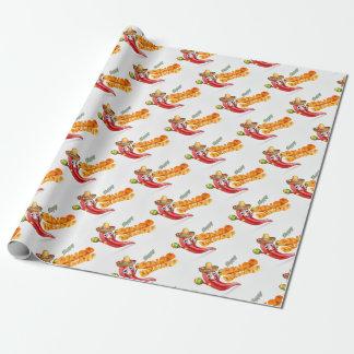 Cinco De Mayo Mexico Chilli Pepper Design Wrapping Paper