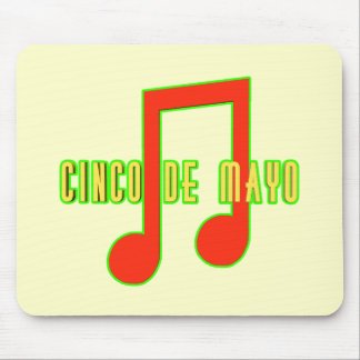 Cinco de Mayo Musical Note T-shirts and Gifts Mouse Pad