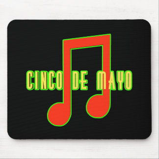 Cinco de Mayo Musical Note T-shirts and Gifts Mouse Mat