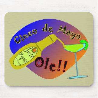 "Cinco de Mayo  ""OLE"" Tequila T-Shirts Mouse Pad"