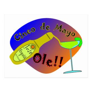 Cinco de Mayo OLE Tequila T-Shirts Post Card