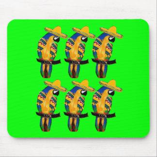 Cinco de Mayo Parrots Mouse Pad