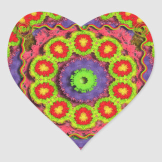 Cinco De Mayo Pinata Abstract Heart Sticker