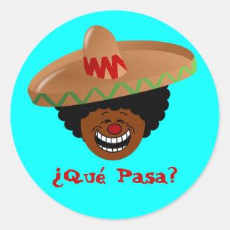 Cinco de Mayo - Que Pasa: Spanish for Funky Fiesta Stickers
