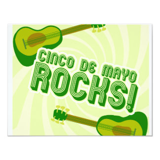 Cinco de Mayo Rocks! 11 Cm X 14 Cm Invitation Card