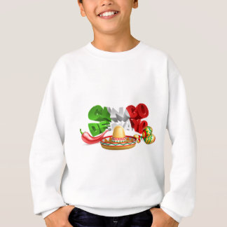 Cinco De Mayo Sign Sombrero Maracas and Pepper Sweatshirt