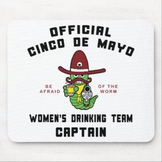 Cinco de Mayo Women s Drinking Team Captain Mouse Pad
