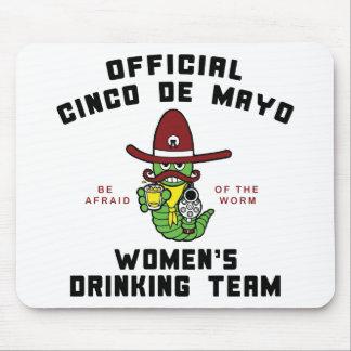 Cinco de Mayo Women's Drinking Team Mousepad