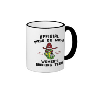 Cinco de Mayo Women's Drinking Team Ringer Mug
