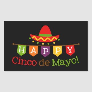Cinco De Mayo word art Fiesta party sticker