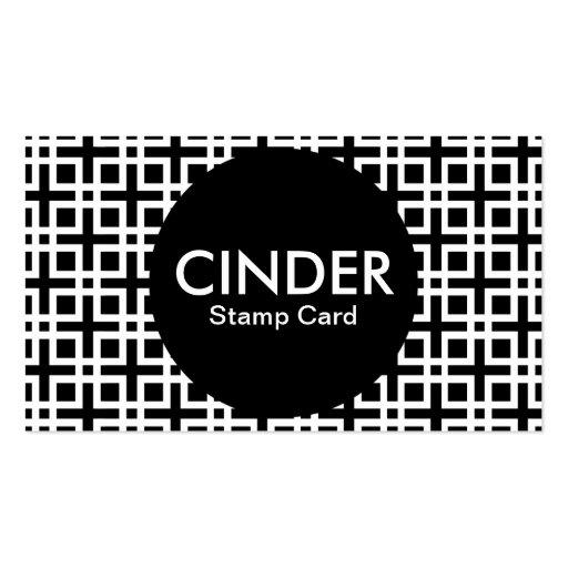cinder stamp card business card template