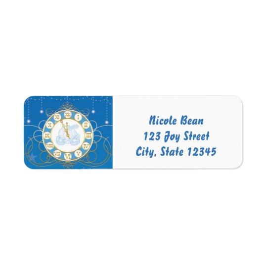 Cinderella Almost Midnight Blue Address Labels
