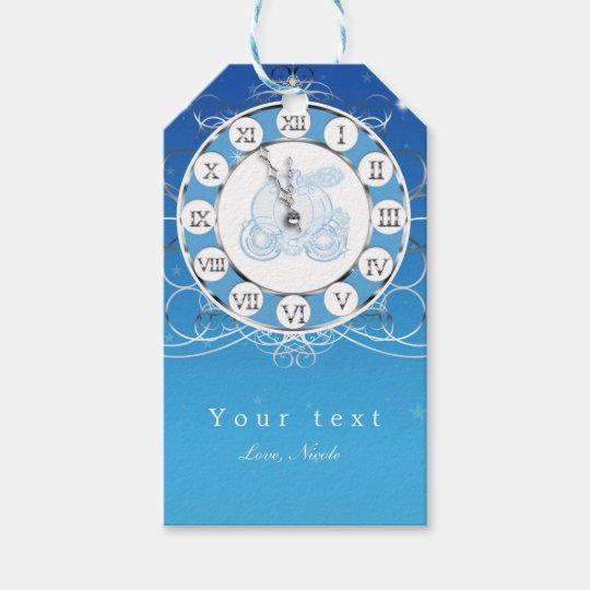 Cinderella Almost Midnight Silver & Blue Party Gift