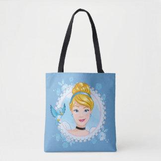 Cinderella And Blue Bird Tote Bag