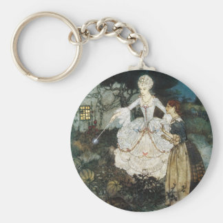 Cinderella and Fairy Godmother Key Ring