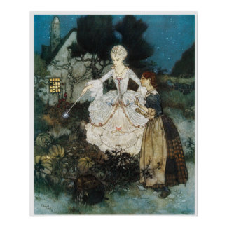 Cinderella and Fairy Godmother Poster