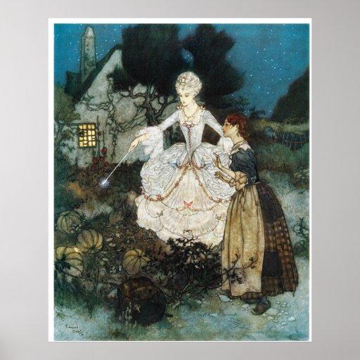 Cinderella and Fairy Godmother Print