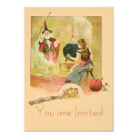Cinderella And Her Fairy God Mother 13 Cm X 18 Cm Invitation Card