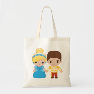 Cinderella and Prince Charming Emoji Tote Bag