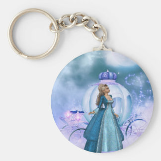 Cinderella Basic Round Button Key Ring