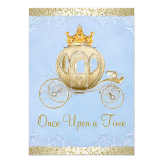 Cinderella Blue Once Upon a Time Princess Birthday 13 Cm X 18 Cm Invitation Card