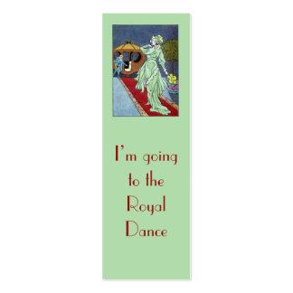 Cinderella bookmark business card templates
