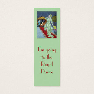 Cinderella bookmark mini business card
