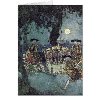 Cinderella Coach Fairy Tale Card