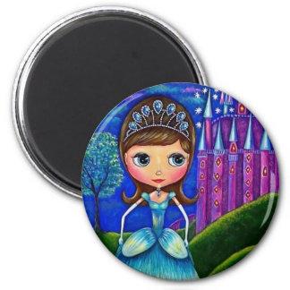 Cinderella Doll 6 Cm Round Magnet