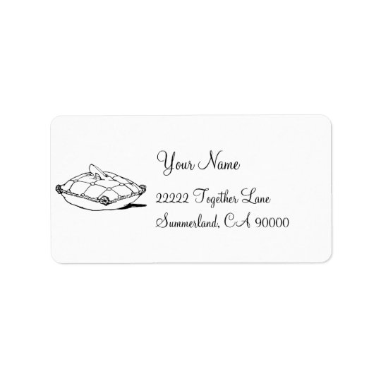 Cinderella Glass Slipper and Pillow Address Label