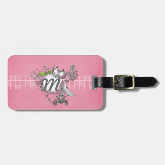Cinderella Glass Slipper Carriage Add TEXT Luggage Tag