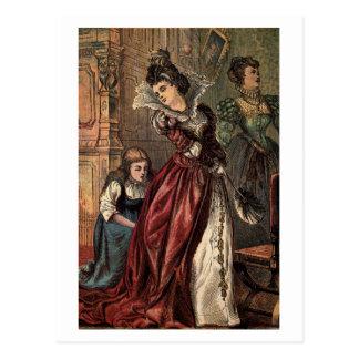 Cinderella Helping her Step-Sisters Postcard